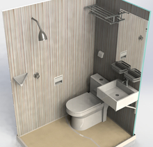 modern SMC complete portable toilet and Shower room