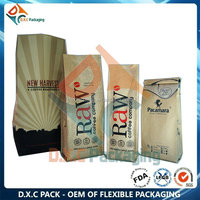Custom Printed Coffee Bean Bag With Degassing Valve In Side Guess Style