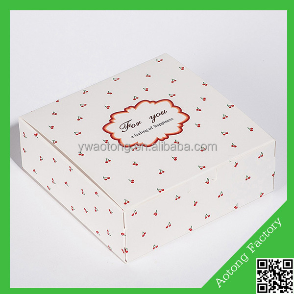 2016 high quality paper box frozen cake packaging