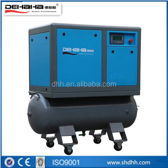 portable screw air compressor with tank without air dryer