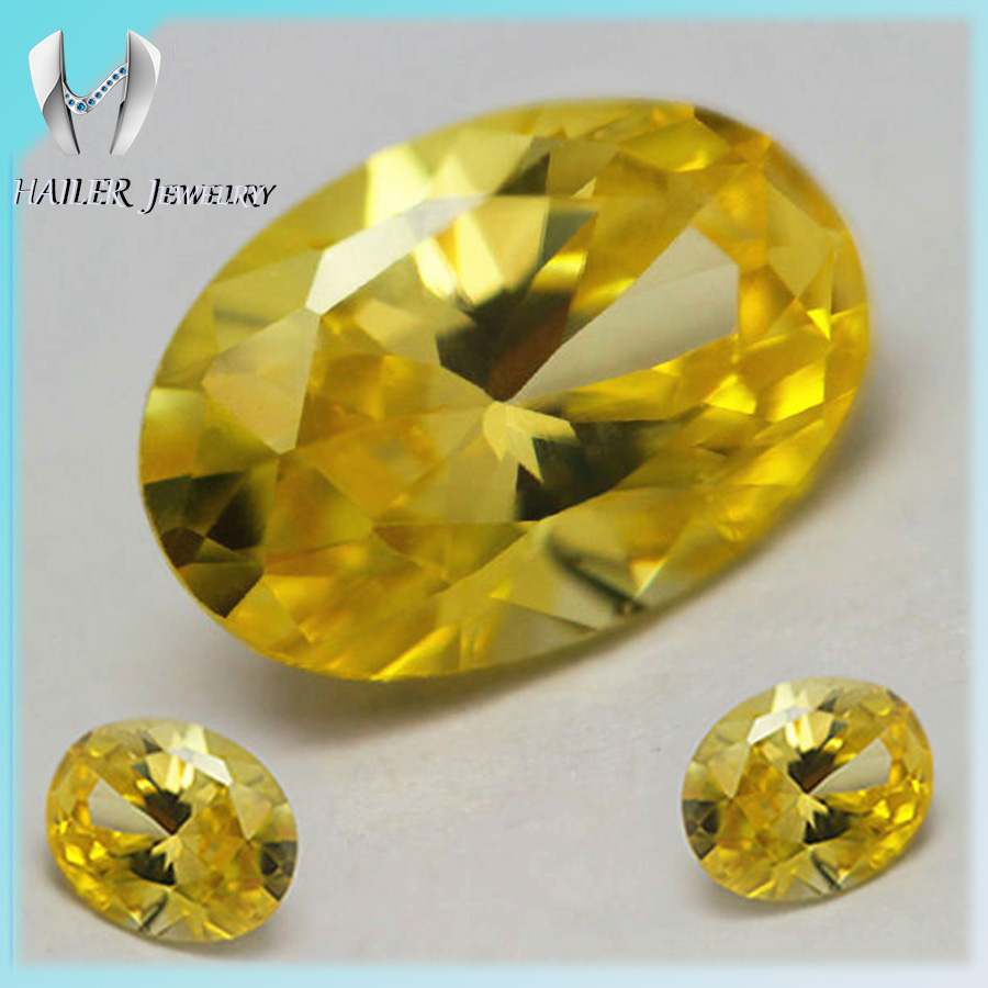 Chinese Machine Cut Loose golden yellow CZ