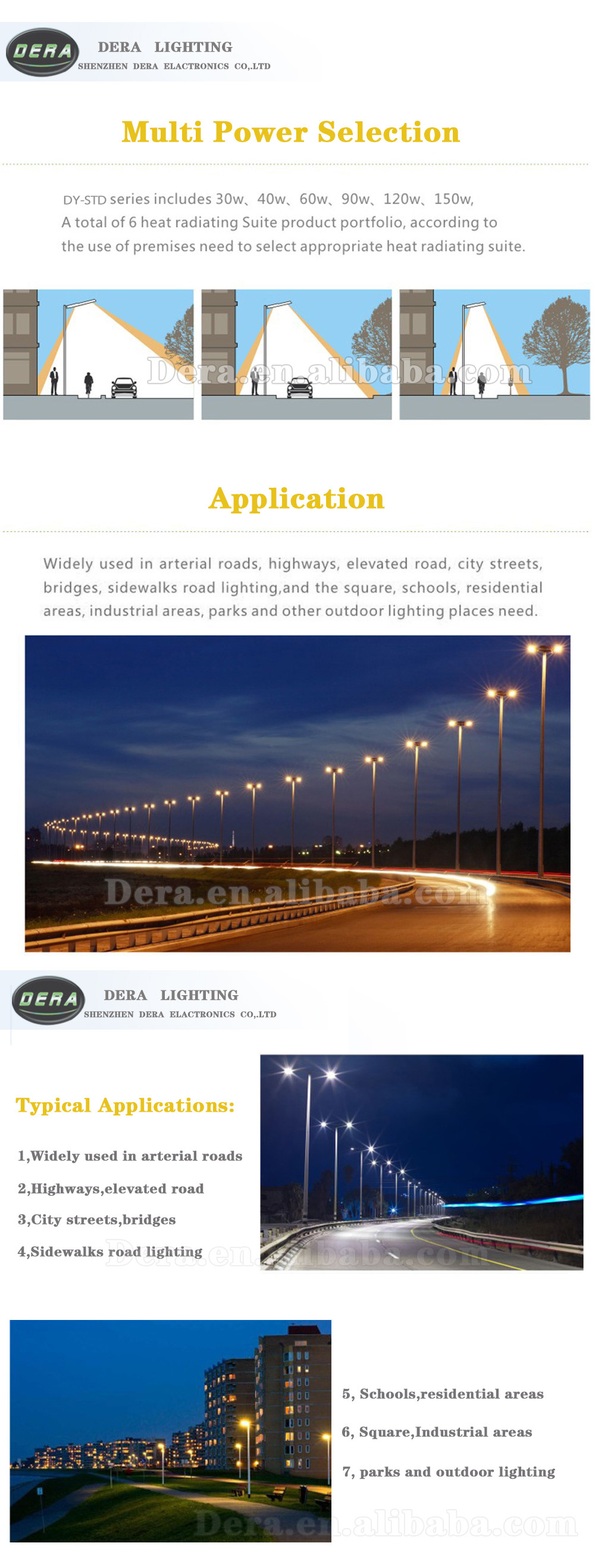 60w LED street light 30w-150w LED street light CE RoHS NEW MODEL IP67 Aluminium 130lm/w