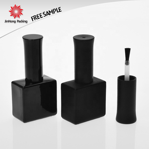 Jinhong packing factory price private label free sample 15ml large empty uv gel nail polish glass bottle with brush 15ml