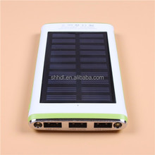 6000mah Solar power bank charger with Solar Panel and Led Flashlight