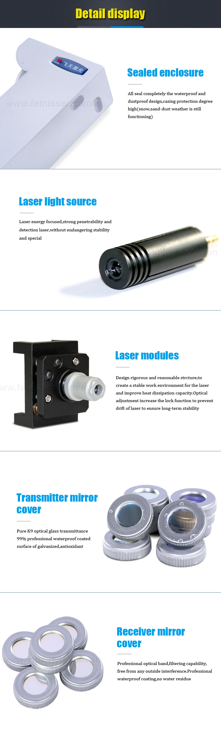 Outdoor sensor electronic boundary laser security system XD-B