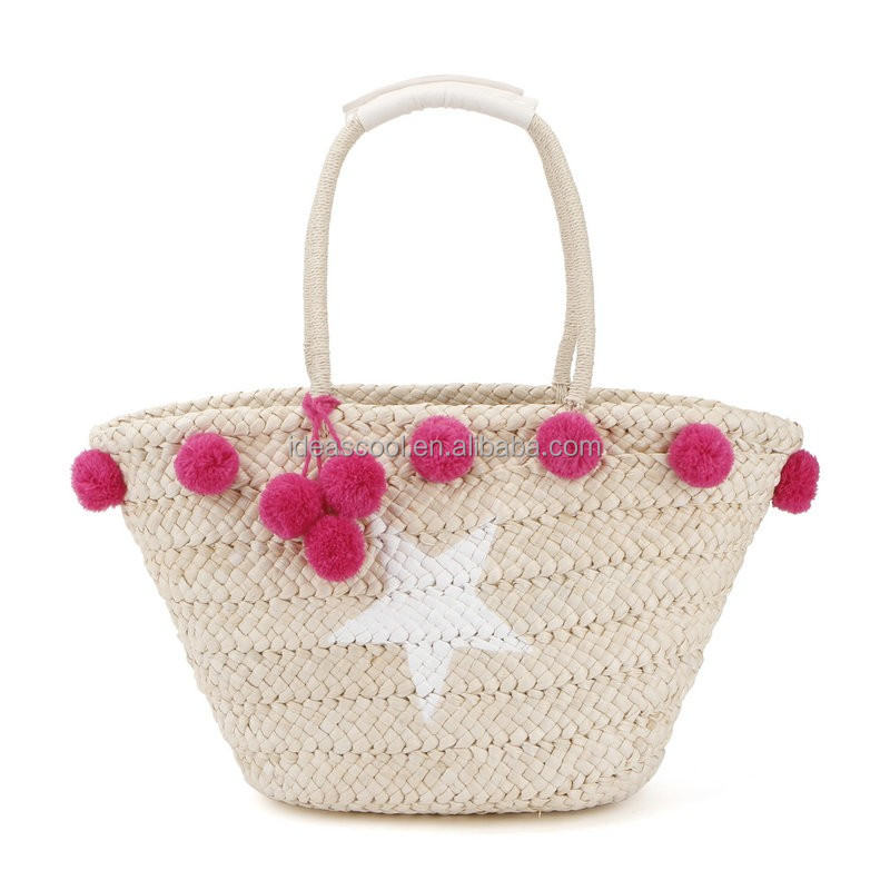ladies fashion straw summer beach bags
