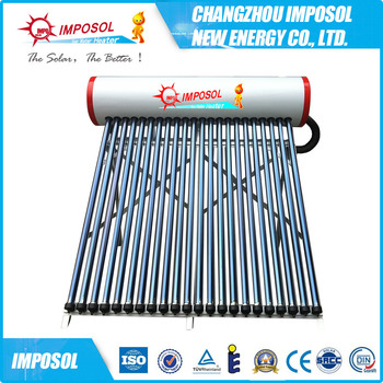 100L-500L compact high pressure evacuated tube solar energy water heater