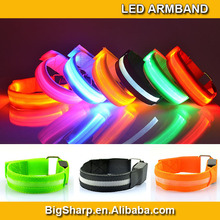 100pcs Hot Selling Safety Flashing Reflective Sport LED Armband night training running sport gym 7 colour LED armlet AB-2002