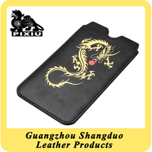 Manufacture High Quality Custom Leather Smart Phone Case on Promotional