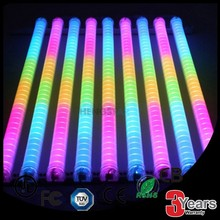 6 section waterproof programmable rgb led tube