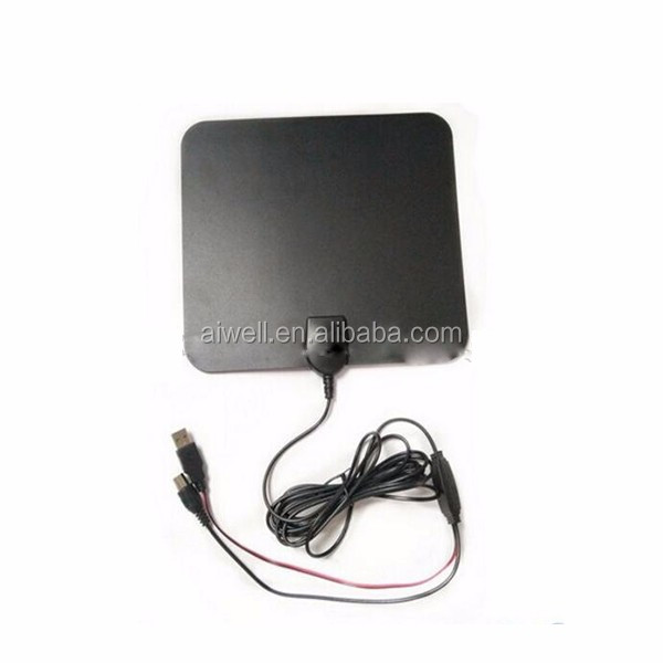 Aiwell signal booster panel indoor antenna with SMA Male Rg174 Cable Patch DVB-T VHF/UHF TV Antenna