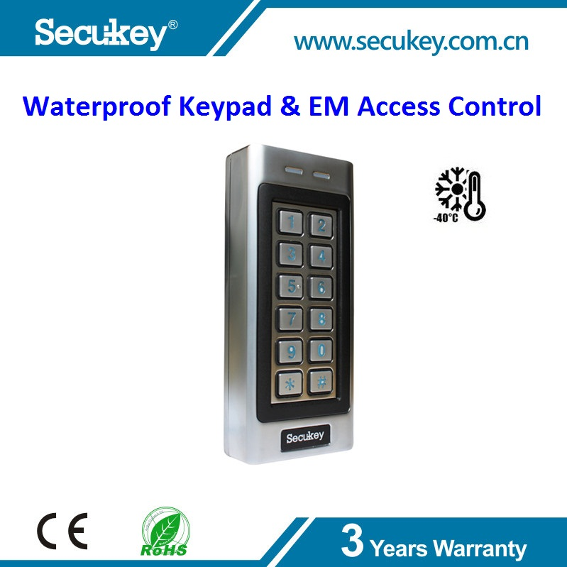 Secukey -40 Operating Temperature W26 Waterproof Keypad Access Control System