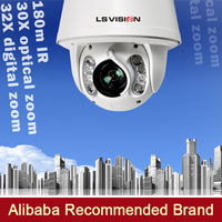 LS VISION 360 degree rotate speed dome cameras ip cmaera ptz camera auto tracking dome laser ir ip 2mp