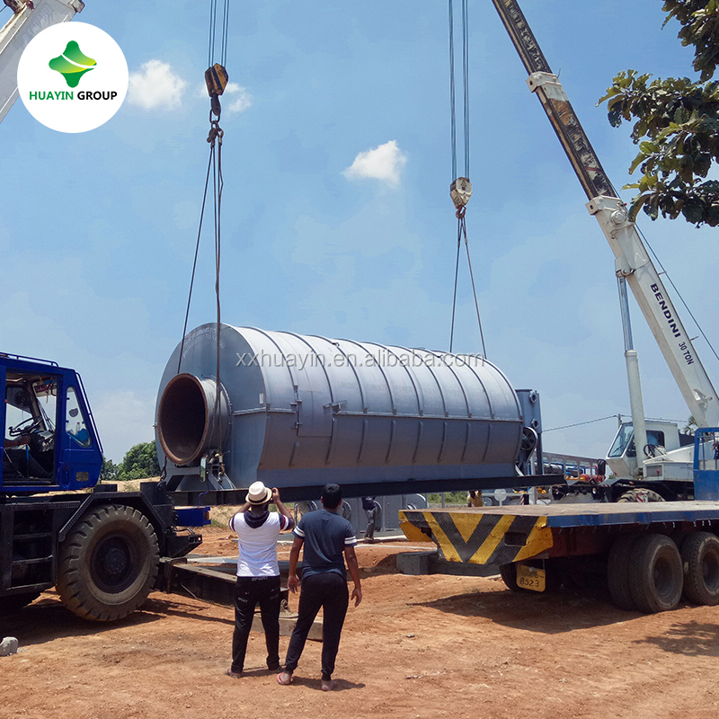 PLC controlling old tyre convert to oil pyrolysis plant in Sri Lanka