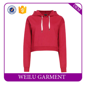 Fashion Pullover Crop Top Hoodies Women Plain Slim Fit Hoodies Wholesale