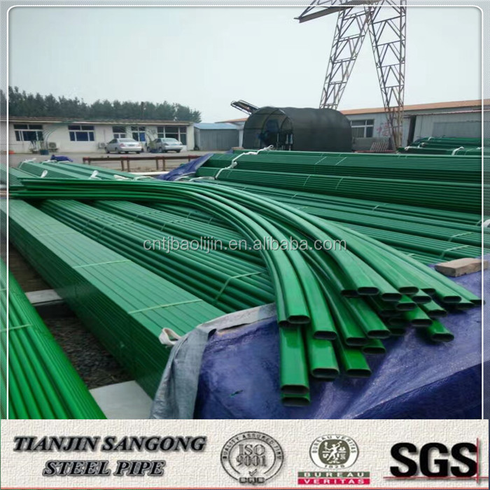 ABS Coated colored single span plastic film agricultural pipe