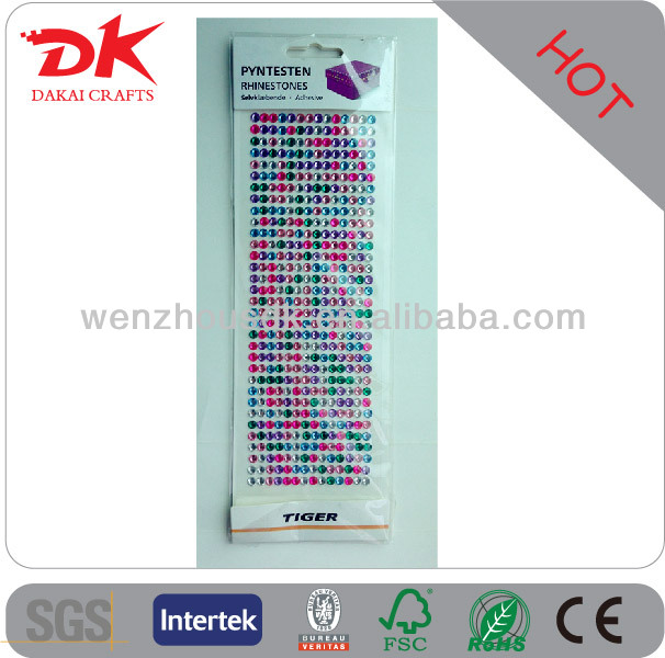 gem sticker/ rhinestone stickers for box