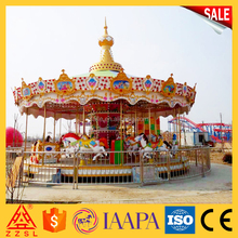 china big manufacturer amusement park ride kids mini used carousel horse merry go round for sale