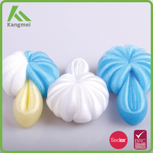 Kangmei promotional colorful net bath sponge natural sponges