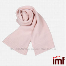 Pink Girls Kids Cashmere Scarf for Winter Hand Knitted
