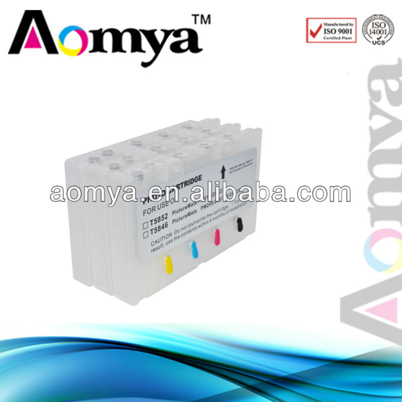 Refillable printer ink cartridge T5852 for Epson
