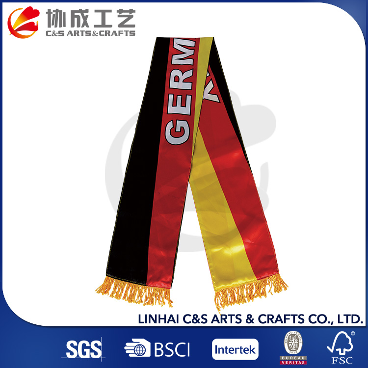 Good Quality National Printing Polyester Fan Scarf