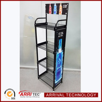 cheap price china supplier metal storage free standing 4 shelves wine liquor beverage drinks wire display rack