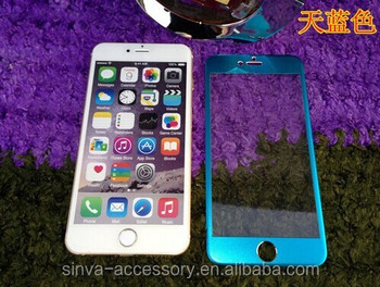 Sinva New 3D 100% full cover Titanium Alloy colored tempered glass for iphone 6 screen protector