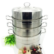 3 layers 28cm multi function stainless steel steamer pot with handle & lid, stainless steel steamer boiler