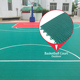 100% new raw pp synthetic material interlocking outdoor portable basketball court sports flooring
