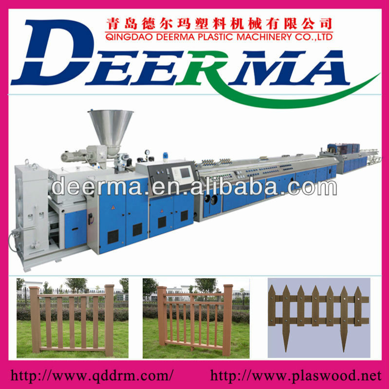 wpc fence plastic extrusion machine/wpc fence plastic extruder/wpc fence whole production line