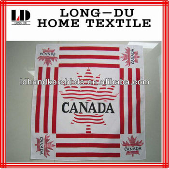 new design good quality Canada flag fashion bandana