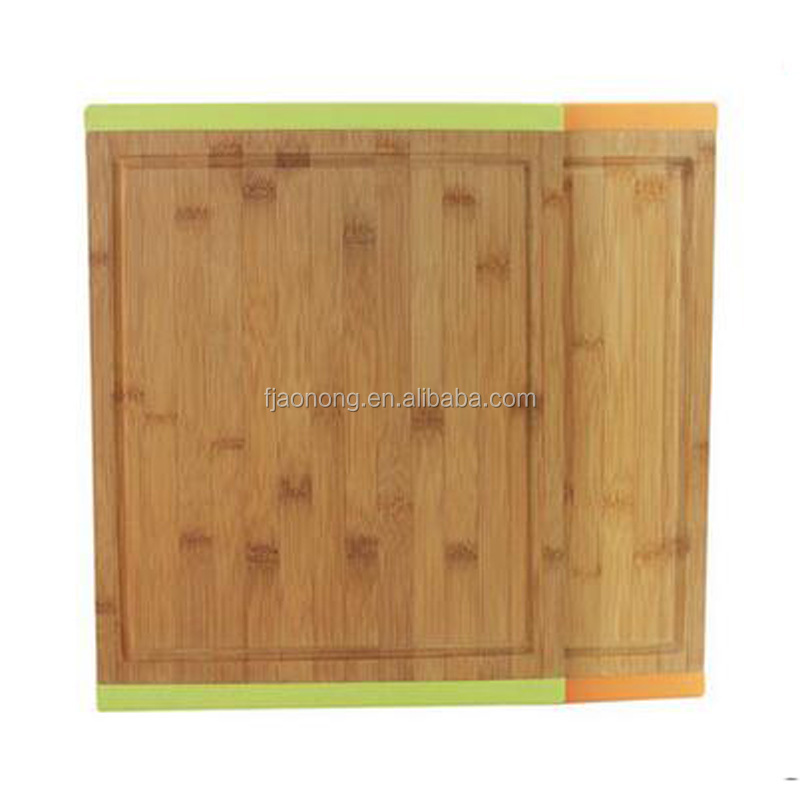 New various desigh bamboo cutting board set Silicone products