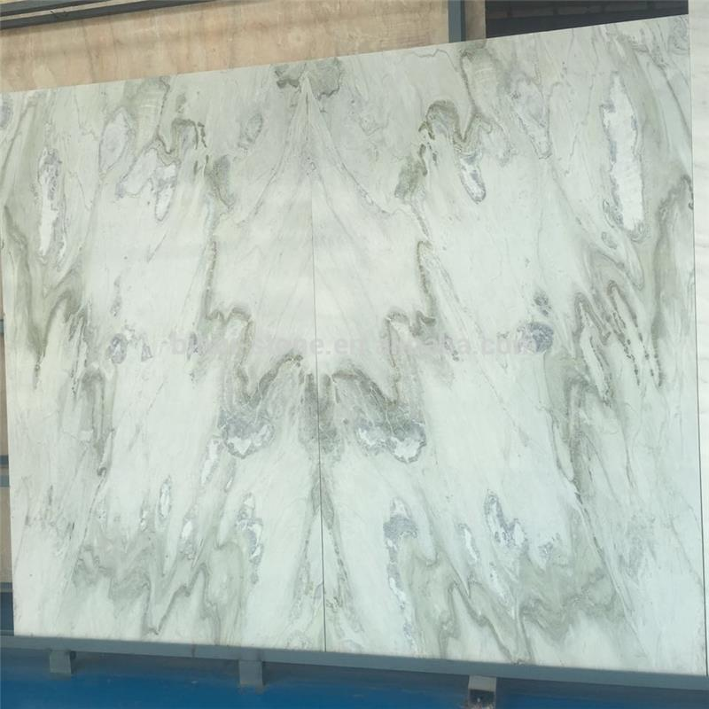 Factory supply best products big slab white green marble