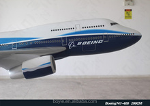 200cm Airplane Kits Classic Collectible Scale 1: 35 Resin 747 Boeing for Christmas Gift