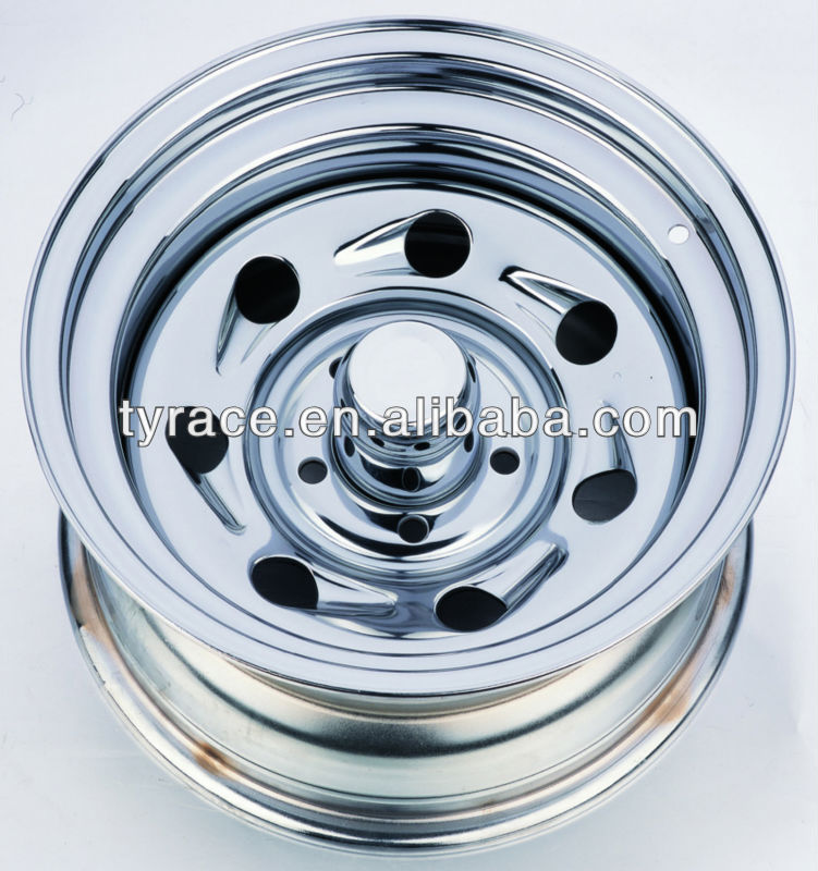 steel chrome trailer wheel rim with TUV,DOT,ISO approved