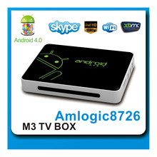 Android 4.0 AML8726-M3 Tv Box Android Dvb-t With 1gb Ddr3 And 4gb Flash