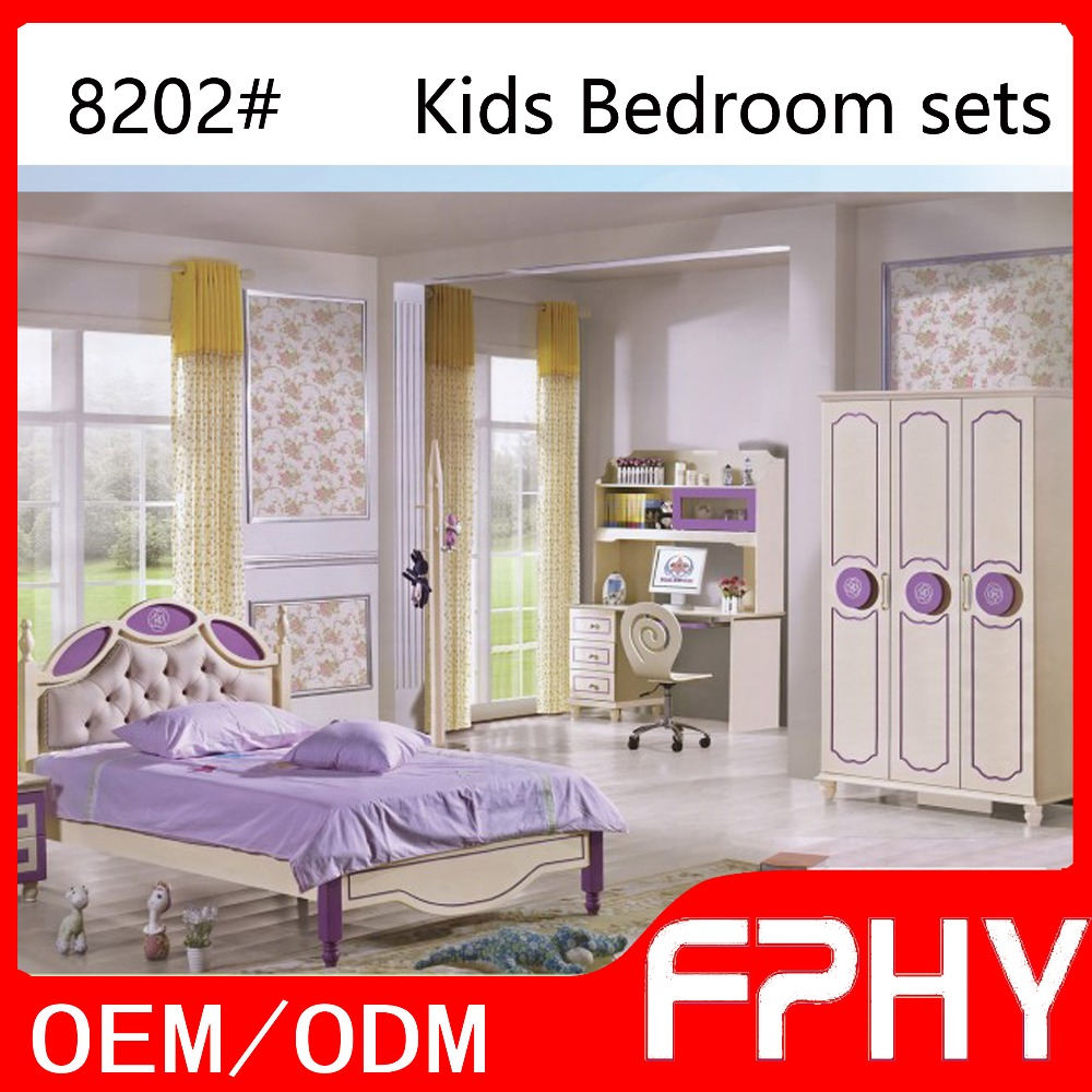 wholesales colorful cheap kids bedroom furniture sets