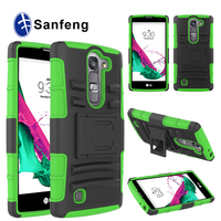 Rugged Series Detachable Hybrid Silicne+ PC Kickstand Case For LG Volt 2 LS751C90 Phone Cover