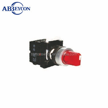 BB133 red Short-handle momentary or latching Turn Button Switch IP65 selector switch