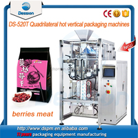 Stand-up Bag Dried Fruit / Berries Meat 4 Line Seal Packing Machinery