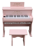 37 keyboard mini wooden piano for children