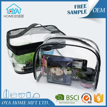 Promotional durable wholesale ladies clear pvc eva travel cosmetic makeup organizer bag