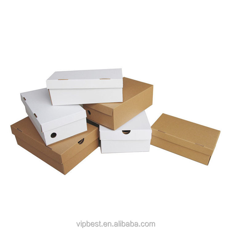 custom kraft paper shoe box design