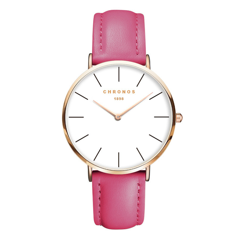 Relojes Mujer 2016 Wristwatch CHRONOS 1898 Orologi Donna Luxury Brand Casual Quartz Clock Rose Gold Watch Montre Femme Masculino