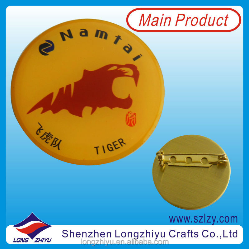 Custom Metal Collar Badge Supplier For Shirt 2014
