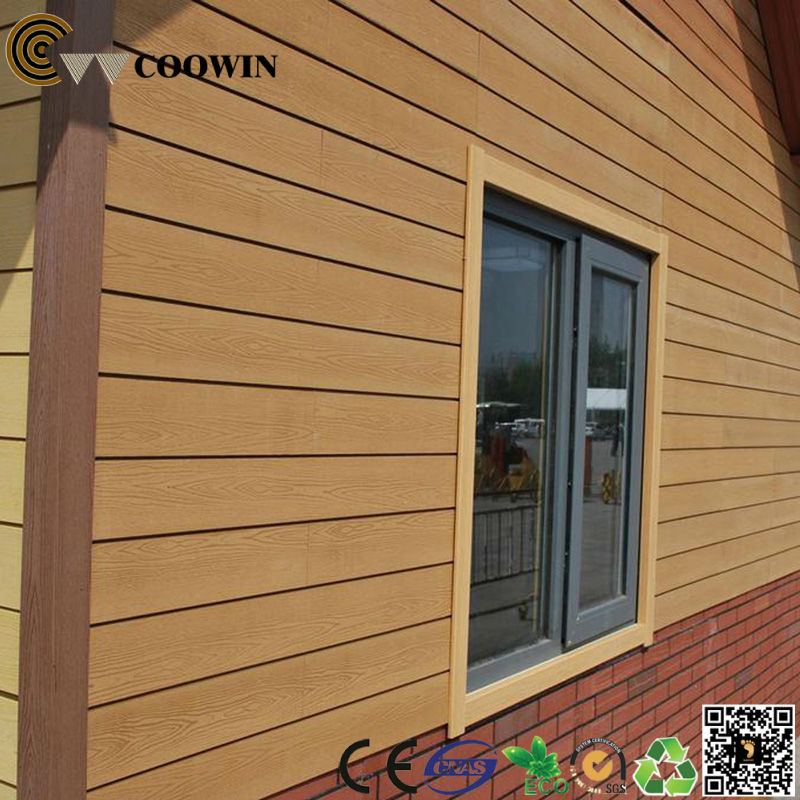 Exterior wpc wood grain vinyl siding buy wood grain for Wood grain siding panels