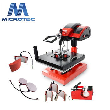 Multifunctional Combo Swing Heat Transfer Press Machine for T-Shirt, Cap, Mug, Plate 8 in 1