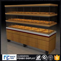 Most reliable supplier glass wood sweet bakery shop counter design