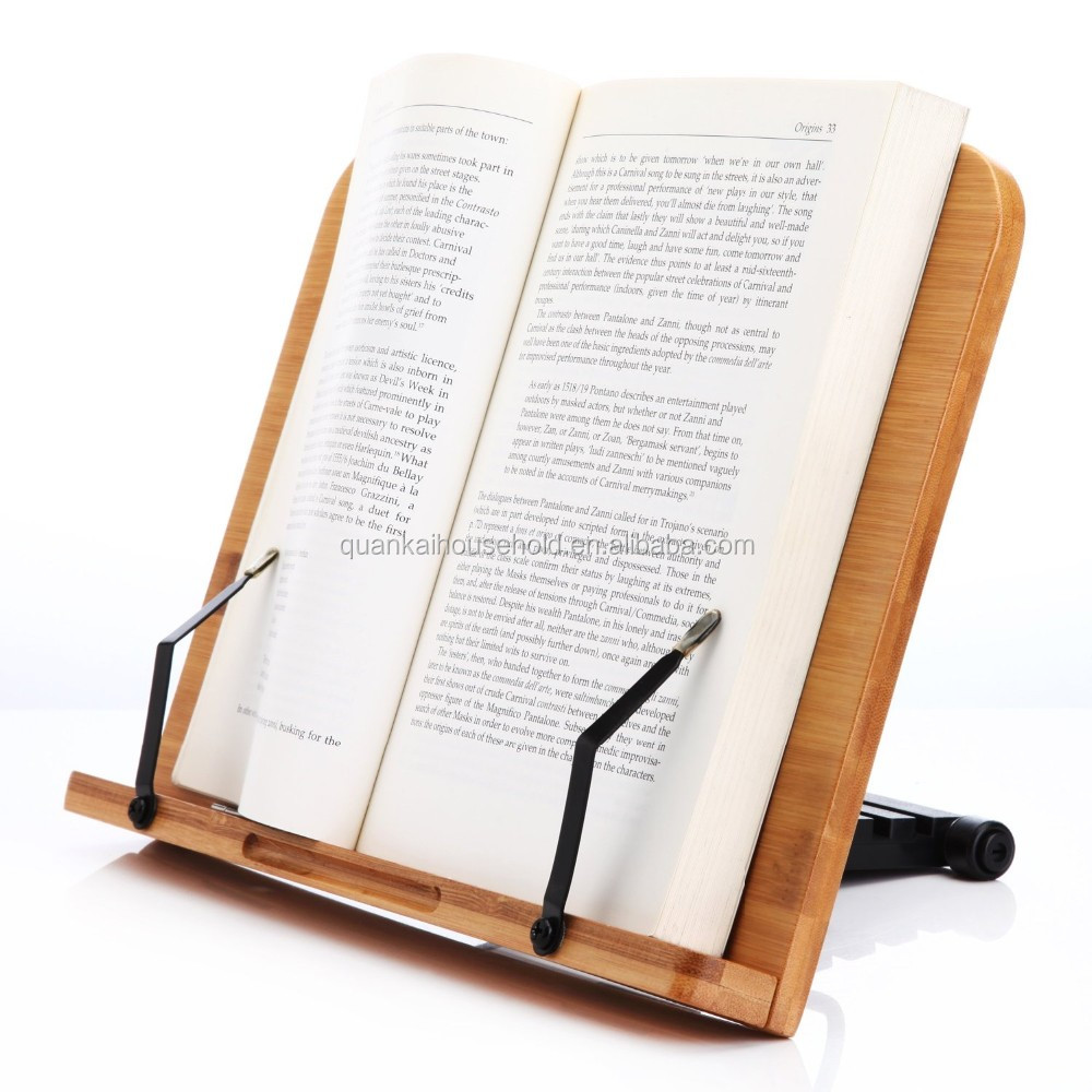 Natural Bamboo Adjustable Reading Rest Cook Book Stand
